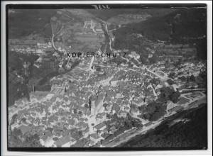 ZZ-3693/ Bad Urach Foto seltenes Luftbild 1938 18 x 13 cm