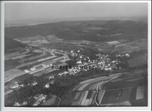ZZ-5482/ Oberschwandorf b. Haiterbach seltenes Foto Luftbild 18 x 13 cm