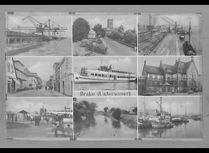 Neg5889/ Brake Unterweser altes Negativ 50er Jahre
