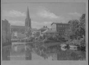 Neg5962/ Buxtehude Hafen und Kirche altes Negativ 50/60er Jahre