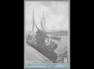 Neg5937/ List auf Sylt Hafen altes Negativ 40/50er Jahre