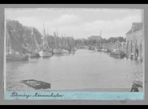 Neg5929/ Tönning Hafen altes Negativ 40/50er Jahre