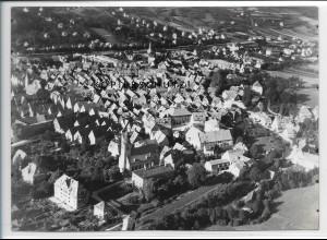 ZZ-3646/ Hersbruck Foto seltenes Luftbild 1936 18 x 13 cm