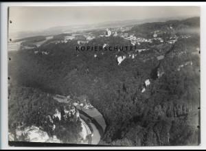 ZZ-3718/ Gößweinstein Foto seltenes Luftbild 1937 18 x 13 cm
