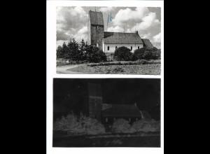 Neg5964/ Friesenkirche in Keitum Sylt Jakobikirche AK altes Negativ 50er Jahre