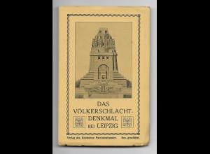 Y18623/ Völkerschlachtdenkmal Leipzig Leporello mit 15 x AK Dt. Patriotenbund