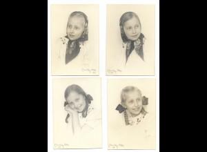 Y18625/ 4 x Foto Mädchen Fotograf: Milly Otto 1946