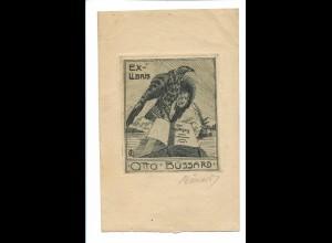 Y20084/ Exlibris Otto Büssard ca.1910