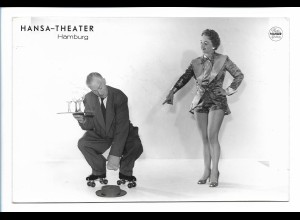 C4078/ Hansa-Theater Hamburg Variete Foto Rollschuh-Artist Foto Mahler 18x12 cm