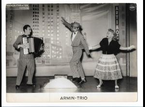 C4064/ Armin-Trio Hansa-Theater Variete Foto Mahler ca.1955 24x18 cm Akkordeon