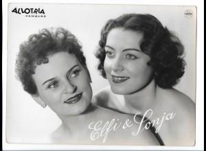 C4061/ Elfi & Sonja Allotria Hamburg Variete Foto Mahler ca.1955 24 x 18cm