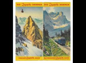 C4046/ Faltblatt Tiroler / Bayrische Zugspitzbahn 1938