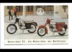 C4042/ Motorrad CZ 125 -175 -250 Faltblatt Tschechien 1963