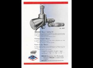 C4039/ MELAS Fahrrad Beleuchtungsset altes Werbeblatt 20,5 x 14,5 cm Reklame