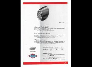 C4035/ MELAS Fahrrad Rücklicht altes Werbeblatt 20,5 x 14,5 cm Reklame