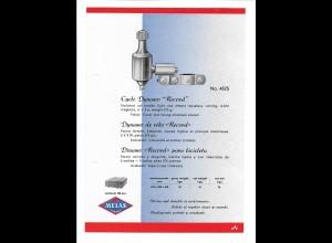 """C4033/ MELAS Fahrrad Dynamo """"Record"""" altes Werbeblatt 20,5 x 14,5 cm Reklame"""