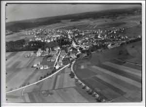 ZZ-3951/ Meßstetten Foto seltenes Luftbild 1936 18 x 13 cm