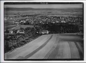 ZZ-4479/ Bad Windsheim Foto seltenes Luftbild 1936 18 x 13 cm