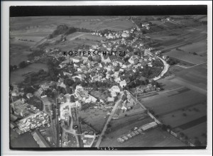 ZZ-4486/ Hofheim Unterfranken Foto seltenes Luftbild ca.1938 18 x 13 cm