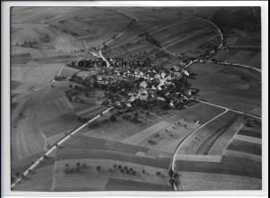 ZZ-4488/ Reckertshausen b. Hofheim Foto seltenes Luftbild ca.1938 18 x 13 cm