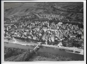 ZZ-4493/ Wülflingen bei Haßfurt Foto seltenes Luftbild ca.1938 18 x 13 cm
