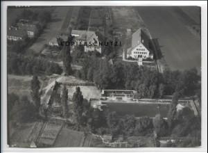 ZZ-4494/ Gerolzhofen Schwimmbad Foto seltenes Luftbild ca.1938 18 x 13 cm