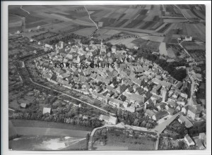 ZZ-4327/ Mainbernheim b. Kitzingen Foto seltenes Luftbild 1937 18 x 13 cm