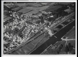 ZZ-4332/ Obertheres bei Theres Foto seltenes Luftbild 1939 18 x 13 cm