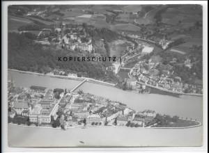 ZZ-4201/ Passau Foto seltenes Luftbild 1938 18 x 13 cm