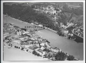 ZZ-4199/ Passau Foto seltenes Luftbild 1938 18 x 13 cm