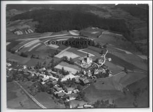ZZ-4202/ Karlsbach bei Waldkirchen Foto seltenes Luftbild 1938 18 x 13 cm