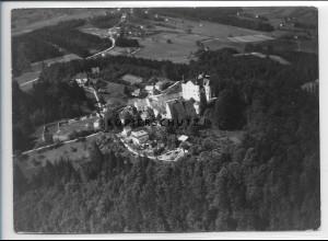 ZZ-4213/ Englburg bei Tittling Foto seltenes Luftbild 1938 18 x 13 cm