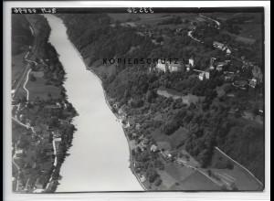 ZZ-4224/ Neuburg bei Passau Foto seltenes Luftbild 1938 18 x 13 cm