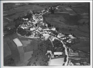 ZZ-4234/ Perlesreut Foto seltenes Luftbild 1938 18 x 13 cm