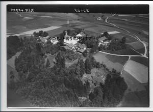 ZZ-4235/ Kirchberg b. Schönberg Foto seltenes Luftbild 1938 18 x 13 cm