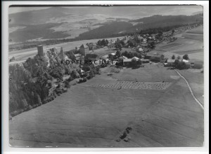 ZZ-4241/ Weißenstein bei Regen Foto seltenes Luftbild 1937 18 x 13 cm