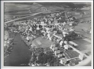 ZZ-4091/ Regen Foto seltenes Luftbild 1937 18 x 13 cm