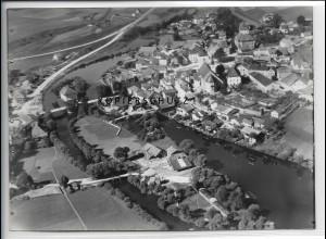 ZZ-4092/ Regen Foto seltenes Luftbild 1937 18 x 13 cm