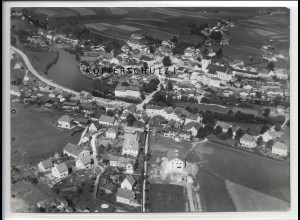 ZZ-4093/ Regen Foto seltenes Luftbild 1937 18 x 13 cm