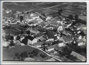 ZZ-4094/ Ruhmannsfelden bei Regen Foto seltenes Luftbild 1937 18 x 13 cm