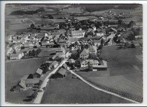 ZZ-4095/ Ruhmannsfelden bei Regen Foto seltenes Luftbild 1937 18 x 13 cm