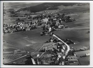 ZZ-4096/ Ruhmannsfelden bei Regen Foto seltenes Luftbild 1937 18 x 13 cm