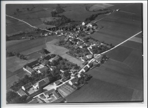 ZZ-4254/ Exing bei Eichendorf Foto seltenes Luftbild 1938 18 x 13 cm