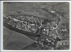 ZZ-4277/ Berching bei Neumarkt Foto seltenes Luftbild 1937 18 x 13 cm