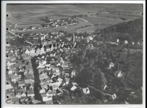 ZZ-4288/ Schwandorf Foto seltenes Luftbild ca.1938 18 x 13 cm