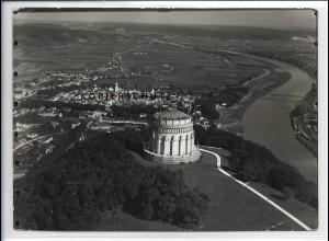 ZZ-4303/ Kelheim Befreiungshalle Foto seltenes Luftbild 1937 18 x 13 cm
