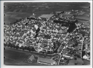 ZZ-4312/ Neustadt a. d. Donau Foto seltenes Luftbild 1937 18 x 13 cm