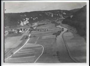 ZZ-4317/ Prunn i. Altmühltal Foto seltenes Luftbild 1937 18 x 13 cm