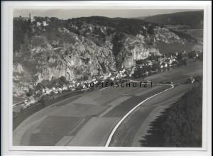 ZZ-4319/ N eu-Essing i. Altmühltal Foto seltenes Luftbild 1937 18 x 13 cm