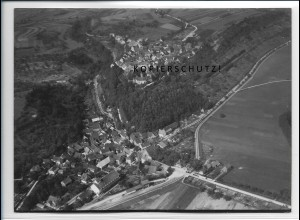 ZZ-4113/ Krautheim Foto seltenes Luftbild 1937 18 x 13 cm